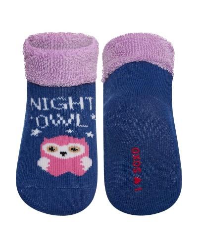 Detské frotté ponožky so sovou