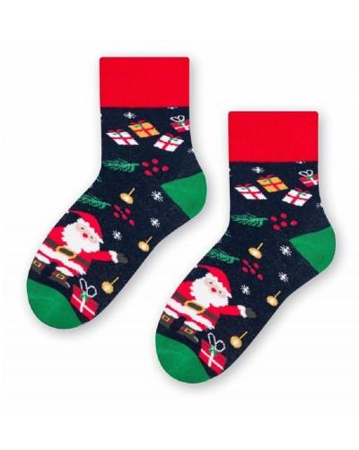 Detské teplé ponožky s vianočným motívom
