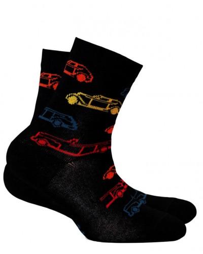 Detské ponožky s protišmykovým chodidlom Autíčka