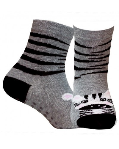 Detské ponožky s protišmykovým chodidlom Zebra