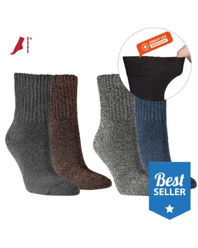Dámske teplé froté melírované ponožky