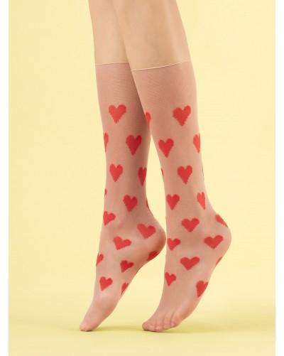 Silonkové ponožky Love me