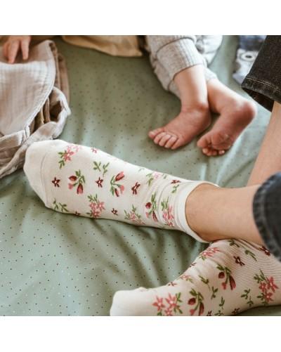 Dámske členkové ponožky Kvietky