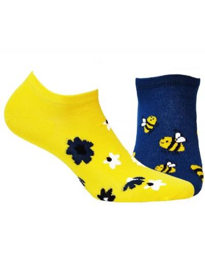 Členkové ponožky funky Včielka
