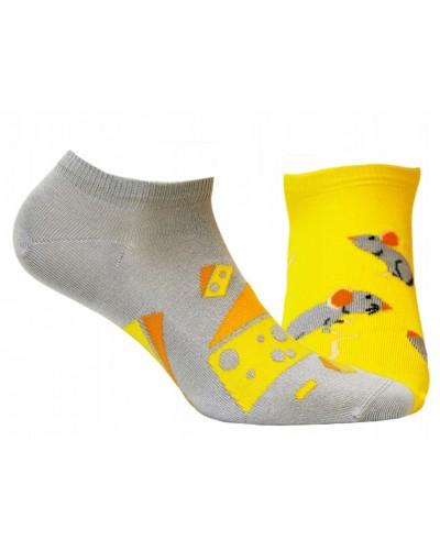 Členkové ponožky funky Myš so syrom